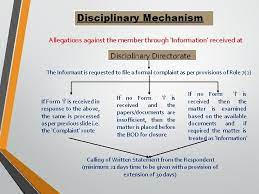 Disciplinary mechanism- Common professional Misconduct
